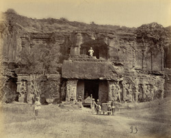 Ellora. Entrance to the temple of Kylas (or Paradise)